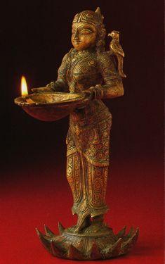 Inde Ceremonie Allumer La Lampe